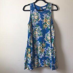 Blue Floral Altar'd State Dress Size Medium